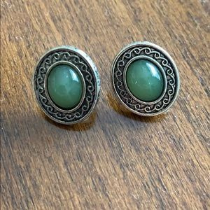 Jewelry - Vintage jade earrings.